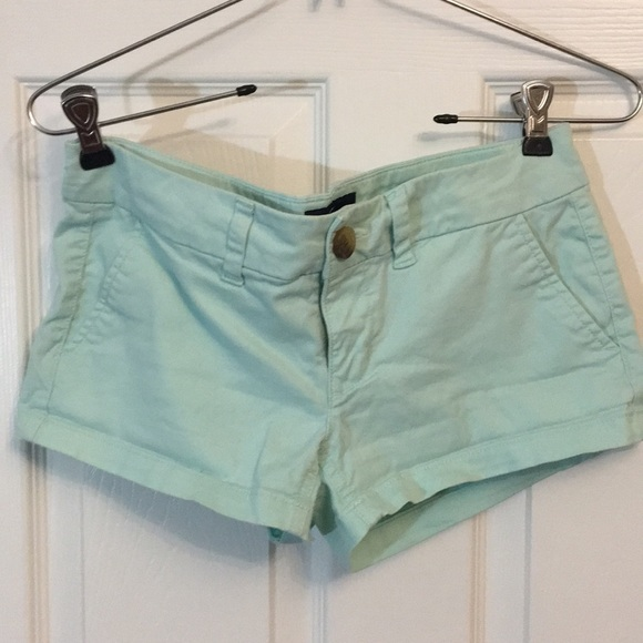 American Eagle Outfitters Pants - Mint green chino shorts